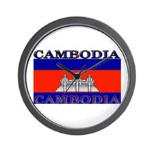 Cambodia Cambodian Flag Wall Clock