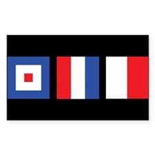 WTH Nautical Flags Rectangle Decal
