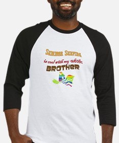 surfing w autistic brother Baseball Jersey
