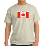Canada Canadian Flag Ash Grey T-Shirt