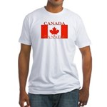 Canada Canadian Flag Fitted T-Shirt