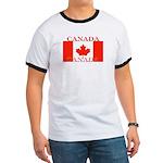 Canada Canadian Flag Ringer T