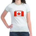 Canada Canadian Flag Jr. Ringer T-Shirt