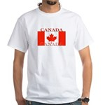 Canada Canadian Flag White T-Shirt