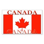 Canada Canadian Flag Rectangle Sticker