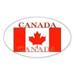 Canada Canadian Flag Oval Sticker