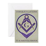 Masonic Congratulations Greeting Cards (Pk of 20)