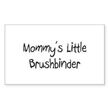 Mommy's Little Brushbinder Rectangle Decal
