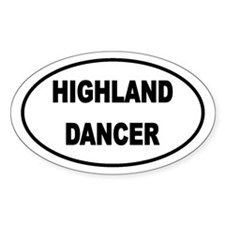 HIGHLAND STICKERS Oval Decal