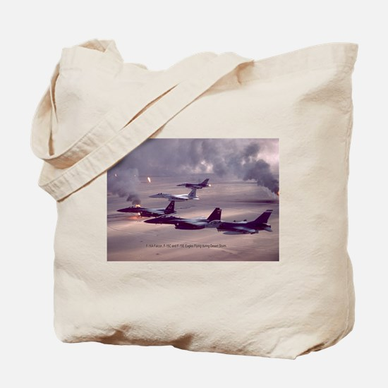 F-16 Falcon F-15 Eagle Tote Bag