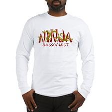 Dragon Ninja Bassoonist Long Sleeve T-Shirt