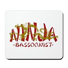 Dragon Ninja Bassoonist Mousepad