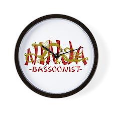 Dragon Ninja Bassoonist Wall Clock
