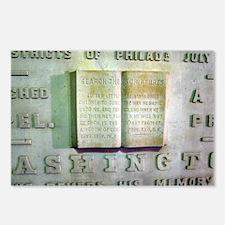 WASHINGTON MONUMENT SCRIPTURE Postcards (Package o