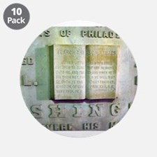 """WASHINGTON MONUMENT SCRIPTURE 3.5"""" Button (10 pack"""