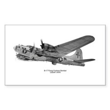 B-17 Flying Fortress Rectangle Decal