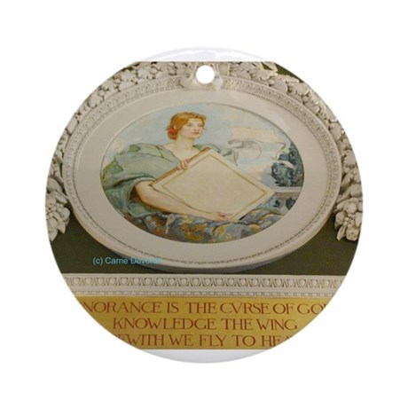 LIBRARY OF CONGRESS NORTH WAL Ornament (Round)