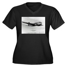 C-46 Commando Women's Plus Size V-Neck Dark T-Shir