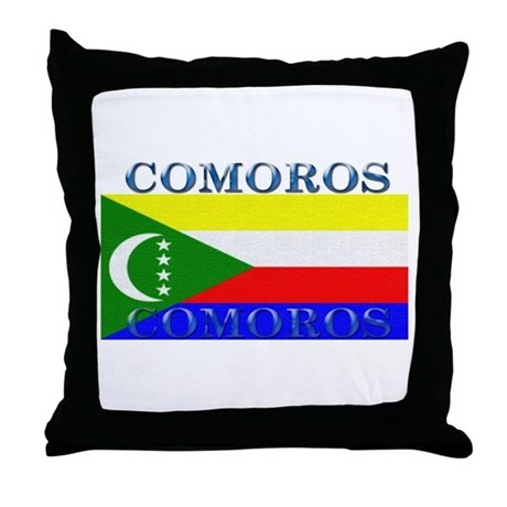 Comoros Throw Pillow