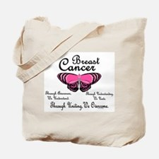 Butterfly Awareness 1 (Breast Cancer) Tote Bag