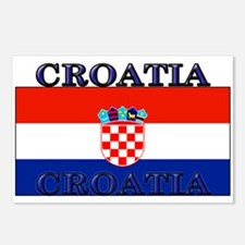 Croatia Croatian Flag Postcards (Package of 8)