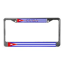 Cuba Cuban Flag License Plate Frame