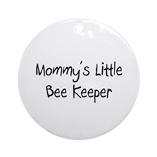 Mommy's Little Bee Keeper Ornament (Round)