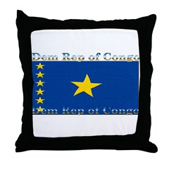 Dem Rep of Congo Throw Pillow