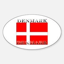 Denmark Danish Flag Oval Decal