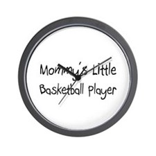 Mommy's Little Basketball Player Wall Clock