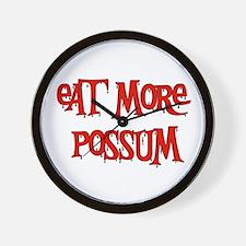 Eat More Possum Wall Clock