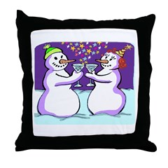 Frosty In Love Throw Pillow