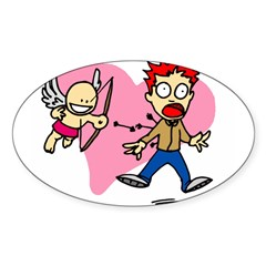 Cupid's Arrow Oval Sticker