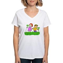 Lucky In Love Women's V-Neck T-Shirt