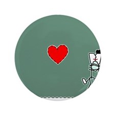 "The Heart Of Kissing 3.5"" Button"