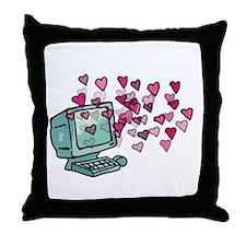 Virtual Love Throw Pillow