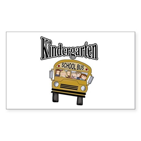 School Bus Kindergarten Rectangle Sticker 10 pk)