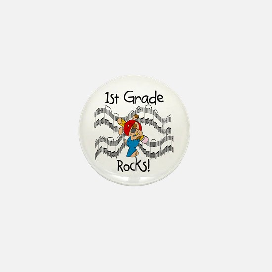 1st Grade Rocks Mini Button
