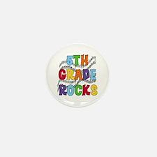 Bright Colors 5th Grade Mini Button (10 pack)