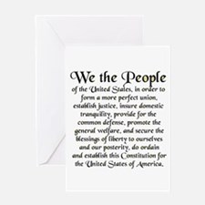 We the People US Greeting Card