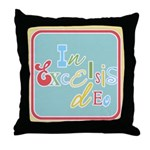 Gloria Funky Christmas Throw Pillow