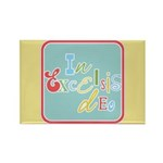 Gloria Funky Christmas Rectangle Magnet (10 pack)