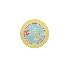 Gloria Funky Christmas Mini Button