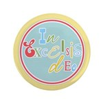 "Gloria Funky Christmas 3.5"" Button (100 pack)"