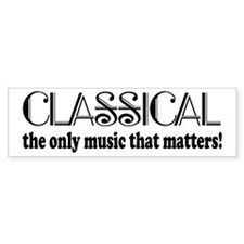 Classical Music Bumper Bumper Sticker