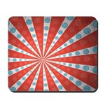 Red Blue Striped Patriotic Mousepad