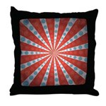 Red Blue Striped Patriotic Throw Pillow