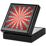 Red Blue Striped Patriotic Keepsake Box