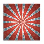 Red Blue Striped Patriotic Tile Drink Coaster