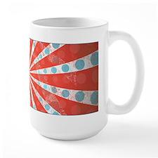 Red Blue Striped Patriotic Coffee Mug(15 oz)